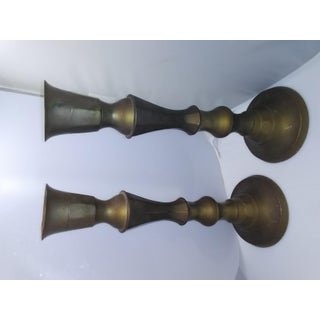 1970s Vintage Brass Candle Holders - a Pair Preview