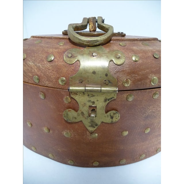 Rustic Wooden Box With Brass Accents - Image 6 of 7