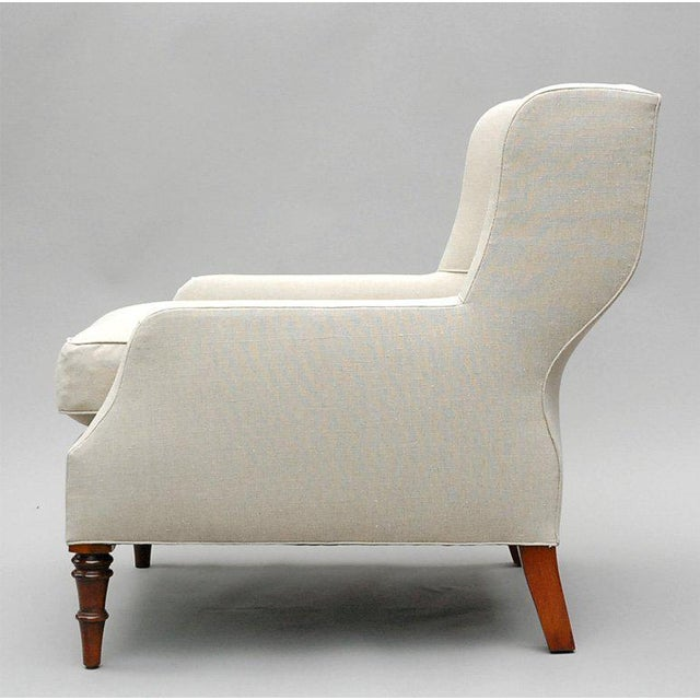 """Selby"" by Lee Stanton Armchair Upholstered in Belgian Linen or Custom Fabric For Sale In Los Angeles - Image 6 of 10"
