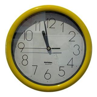 Bravíssímo Yellow Wall Clock For Sale