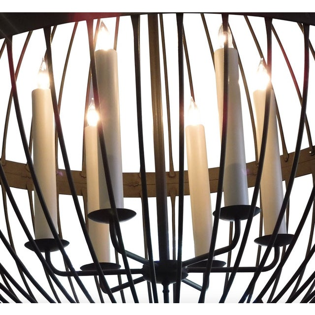 Contemporary Contemporary Paul Ferrante Large Chandelier For Sale - Image 3 of 5