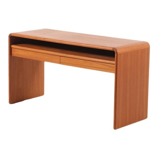Vintage Mid-Century Danish Modern Teak Console Table For Sale