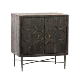 Black Octagon Modern Side Cabinet For Sale
