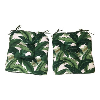 Swaying Palms Seat Cushions - a Pair