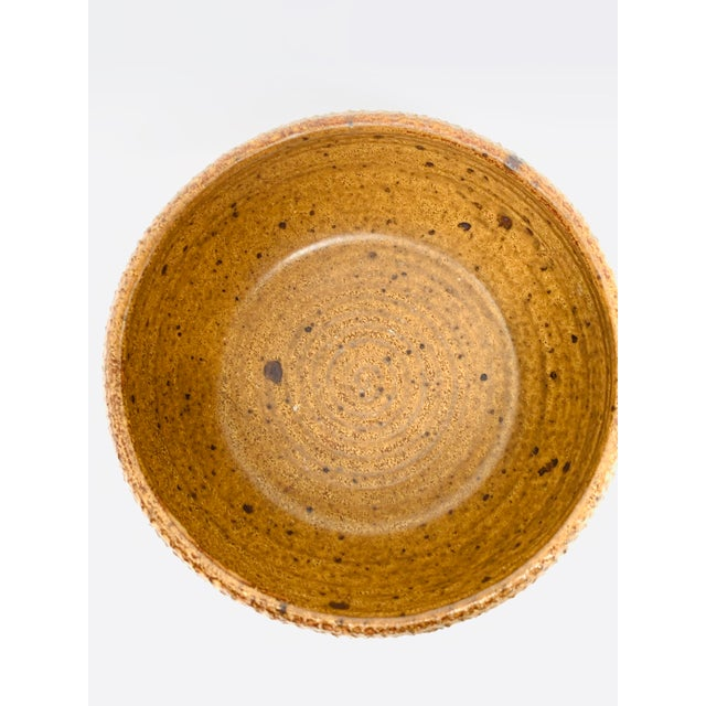 Tan George Scatchard Mid Century Modern Studio Pottery Bowl For Sale - Image 8 of 10