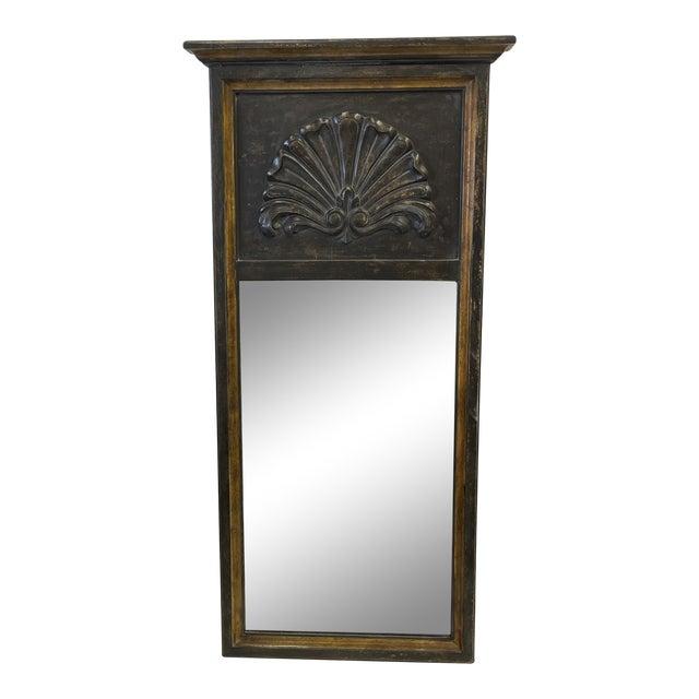 Florentine Black Wood Mirror For Sale