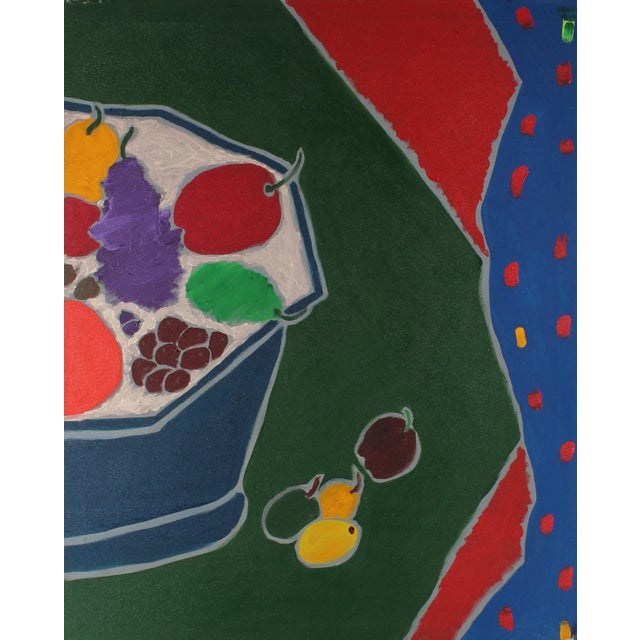 "Modern ""Iced Fruit"" Large Diptych Still Life Painting For Sale - Image 3 of 5"
