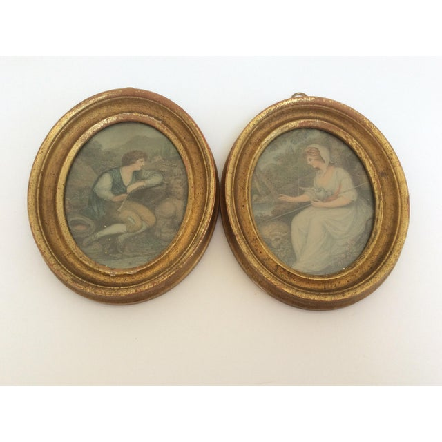 Antique Oval Framed Antique Mezzotints - A Pair For Sale - Image 4 of 9