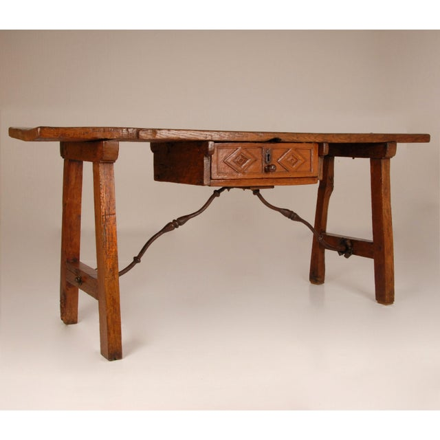 16th Century Antique Renaissance Spanish Console Table For Sale - Image 5 of 12