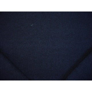 Traditional Ralph Lauren Shetland Weave Navy Blue Wool Upholstery Fabric - 2y For Sale