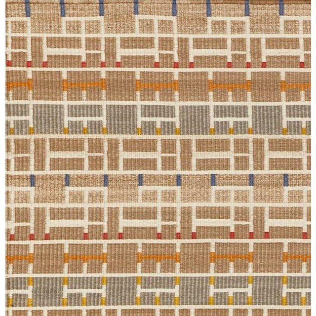 Contemporary Schumacher Patterson Flynn Martin Gropius Hand Woven Sisal Geometric Rug For Sale - Image 3 of 5