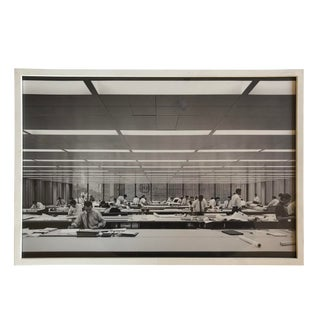 Vintage Wall Art Photo Chicago's Inland Steel Interior For Sale