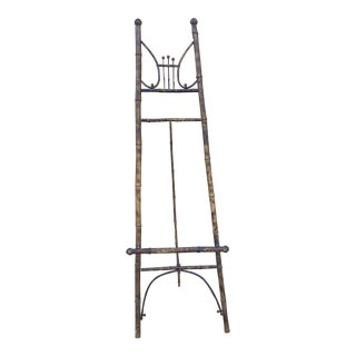 Antique English Tortoiseshell Bamboo Easel / Display For Sale