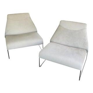 Modern B&B Italia Lazy '05 Lounge Chairs- A Pair For Sale