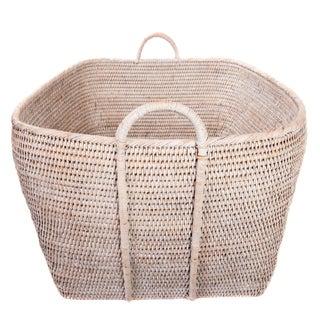 Artifacts Rattan Basket With Hoop Handles Preview