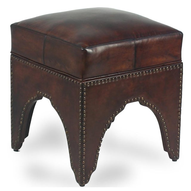 2010s Sarried Ltd Dark Brown Giuseppe Footstool For Sale - Image 5 of 5
