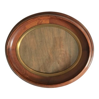Antique Victorian Oval Picture Frame For Sale