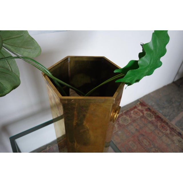 Vintage Brass Umbrella Stand For Sale In Buffalo - Image 6 of 8
