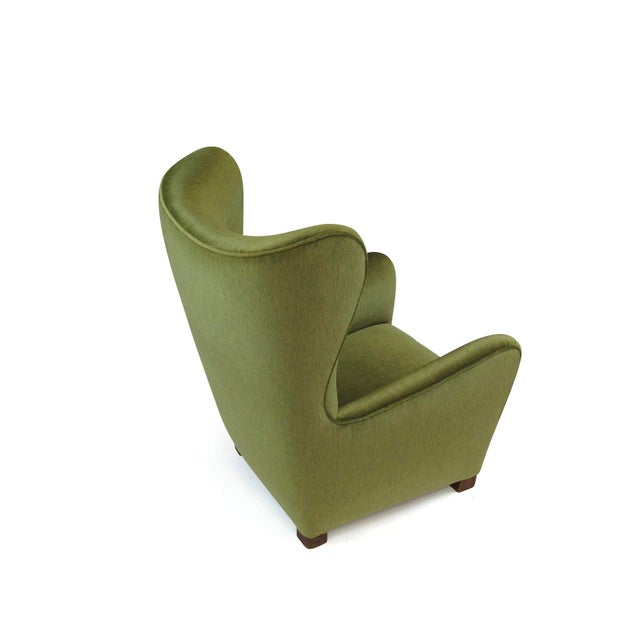 1940s 1942 Thorald Madsen for Fritz Hansen High Back Lounge Chair For Sale - Image 5 of 11