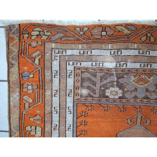 1940s Hand Made Antique Turkish Anatolian Prayer Rug - 3′3″ × 4′7″ For Sale - Image 5 of 10