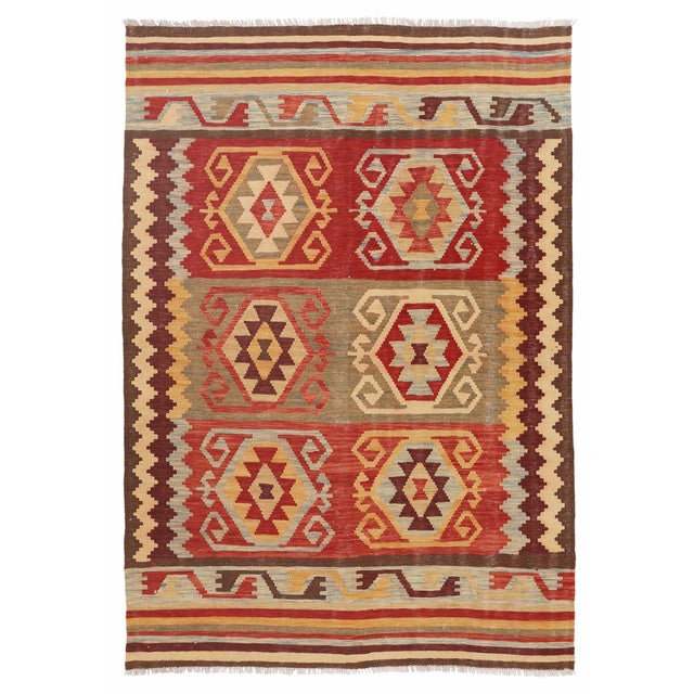 "Pasargad Kilim Area Rug - 4'7"" X 6'6"" - Image 1 of 2"