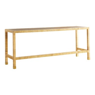Woven Rattan Console Table, Sourced in France For Sale