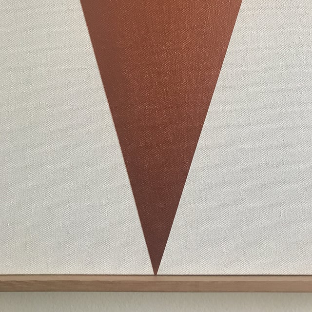 "Original Acrylic Painting ""Copper Jagged Triptych JET0491"" - Image 4 of 5"
