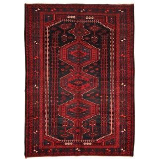 Early 20th Century Antique Persian Hand Knotted Hamadan Rug - 5′11″ × 8′2″
