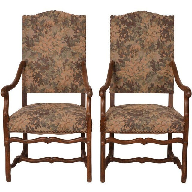 French Antique Arm Chairs - A Pair - Image 3 of 5