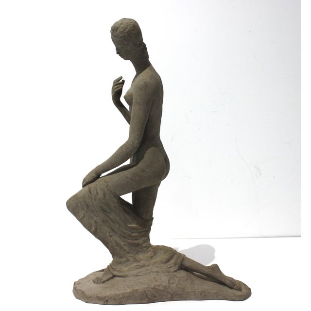 """Kneeling Woman"" which the artist created in 1911 is considered sculptor Wilhelm Lehmbruck's greatest work and the large..."