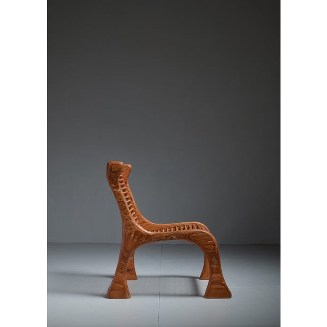 Robert Dice Rare Studio Crafted Chair with Dowel Seating, USA, 1970s - Image 3 of 4