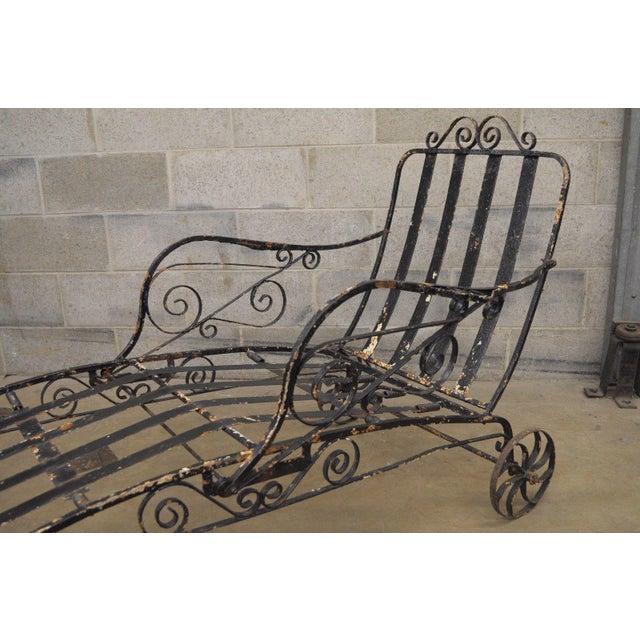 Antique Salterini Fancy Wrought Iron Art Nouveau Reclining ...