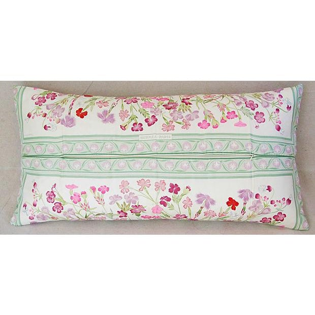 Niki Goulandris Hermes French Floral Silk Pillow For Sale In Los Angeles - Image 6 of 8