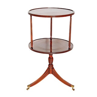 Late 18th Century George III Tiered Dessert Table of Mahogany For Sale