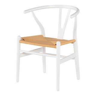 Alban Dining Chair In White For Sale