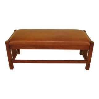 Stickley Mission Oak Spindled Bench