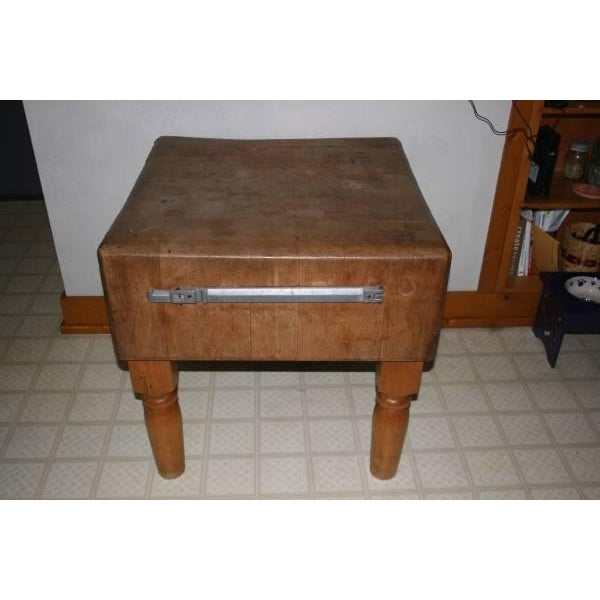 Antique Butcher Block - Image 2 of 3