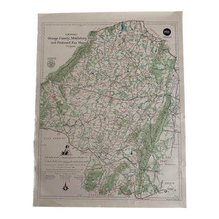 Northern Virginia Fox Hunting Map For Sale