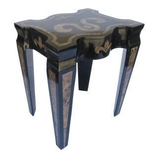 Maitland Smith Tessellated Marble Side Table With Drawer For Sale