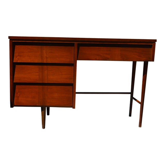 Ward Mid Century Modern Writing Desk by Ward Furniture For Sale