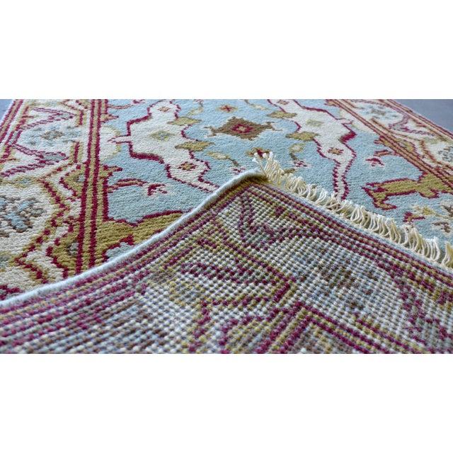 "Vintage Handmade Oushak Wool Runner Rug - 2'5"" x 8' - Image 5 of 5"