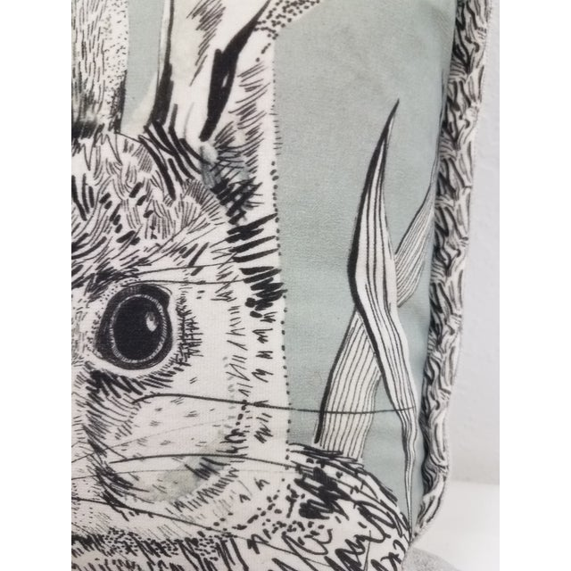 Rabbit Hare Pillow - Made in Wales, United Kingdom For Sale - Image 4 of 11