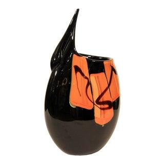 Afro Celotto Unique Murano Glass Vase For Sale