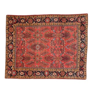 """1920's Leon Banilivi Antique Mahal Carpet, 9' X 11'8"""" For Sale"""