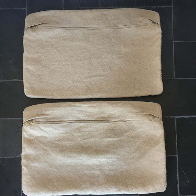 Williams Sonoma Woven Linen Pillow Covers - A Pair - Image 6 of 8