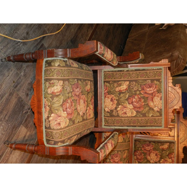 Eastlake Parlor Sofa & Chairs Set For Sale - Image 4 of 13