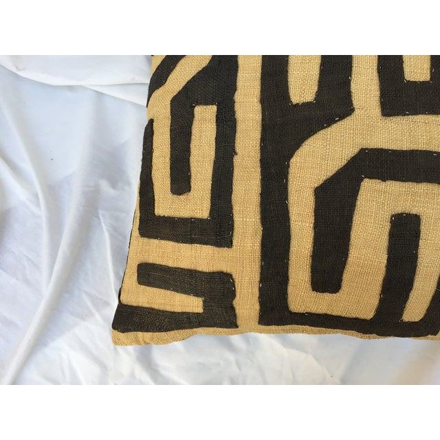 African Kuba Maze Pillow For Sale - Image 4 of 5