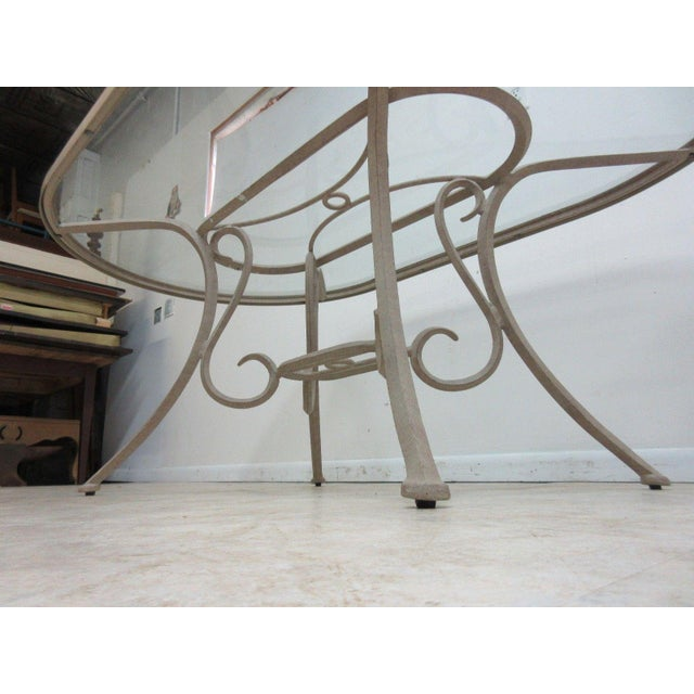 Traditional Woodard Landgrave Cast Classics Aluminum Outdoor Dining Table For Sale - Image 3 of 6
