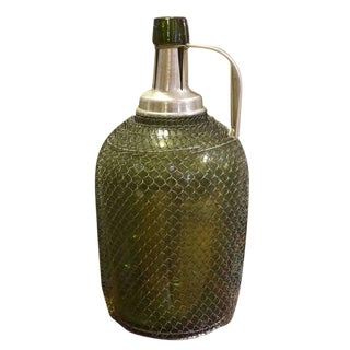 Italian Mesh Covered Seltzer Bottle