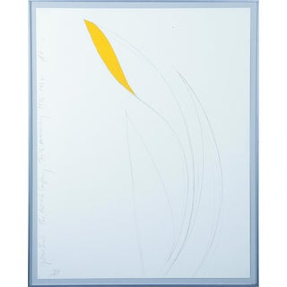 "Donald Sultan 1982 ""Yellow Iris"" Lithograph For Sale"